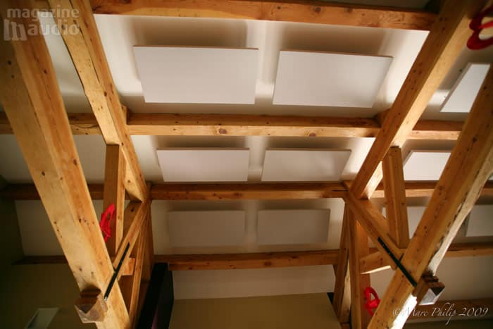traitement acoustique au plafond par dalles absorbantes