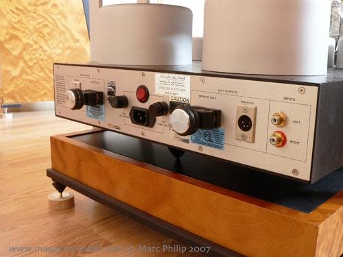 vue arrière de l'amplificateur 300B