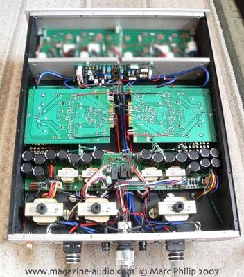 vue interne de l'amplificateur