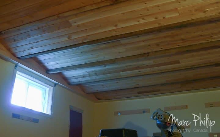 Résultat final d'un plafond à pas variables