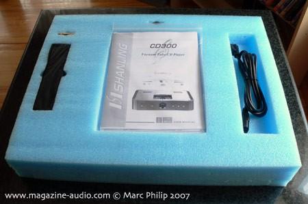 emballage Shanling CD 300 CD player