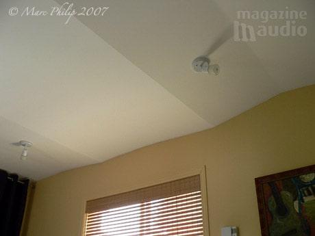 détail acoustique du plafond