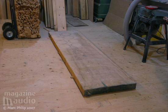 planche de bois brut Tambour Moperc