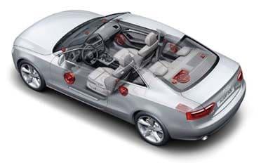 automobile Audi speaker system