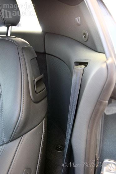 automobile Audi R8, haut-parleurs arrières