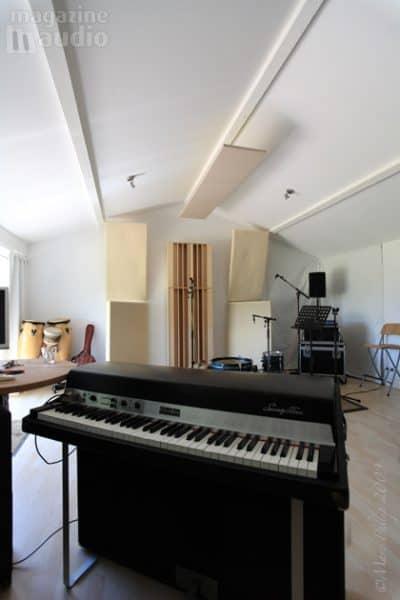 Studio de Pierre Sibille après traitement acoustique