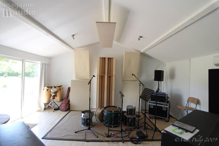 Studio professionnel de Pierre Sibille traitement acoustique