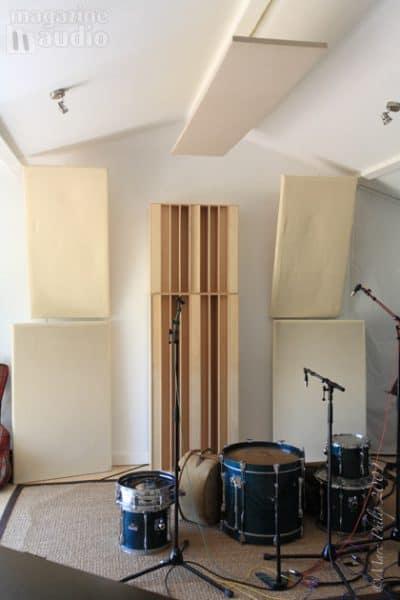 Studio de Pierre Sibille traitement acoustique pour le batteur