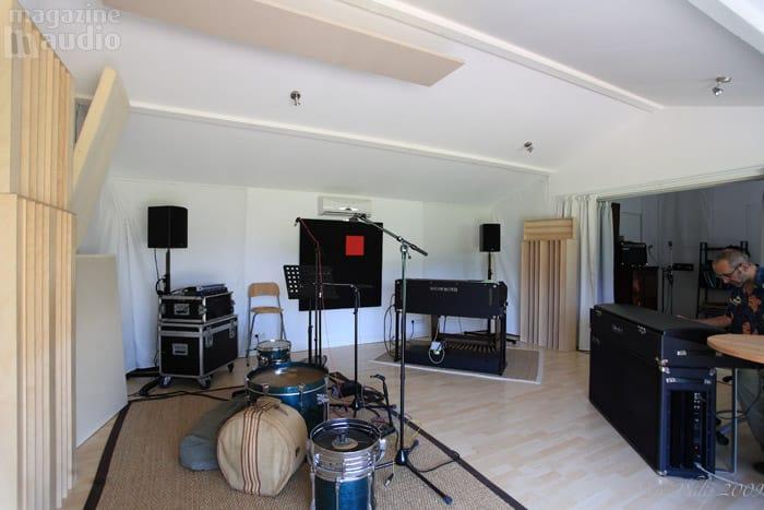 Vue latérale du studio