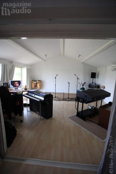 Studio de Pierre Sibille avant traitement acoustique
