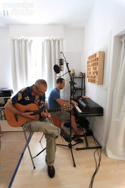 traitement acoustique du studio pro de Pierre Sibille