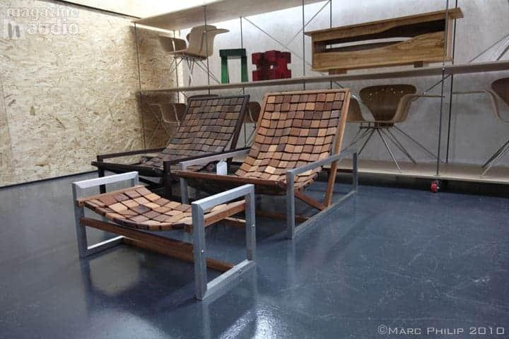 Atelier-001A chaises en bois tissé