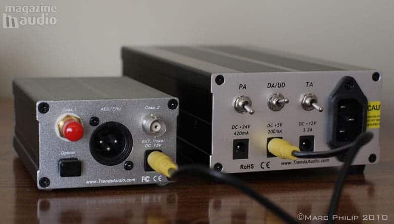 DAC Trends Audio 10.1 avec son alimentation externe régulée
