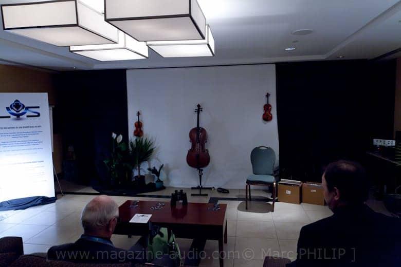 Salle de démonstration du système Axial Triphonic Speakers