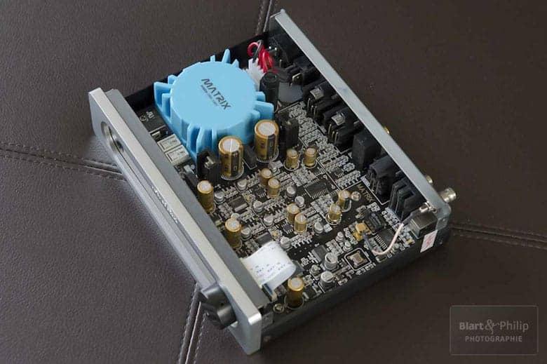 Vue interne du DAC Matrix i-mini
