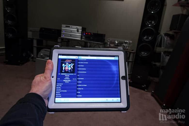 iPad par lequel on accède directement et du bout des doigts à sa bibliothèque de musiques