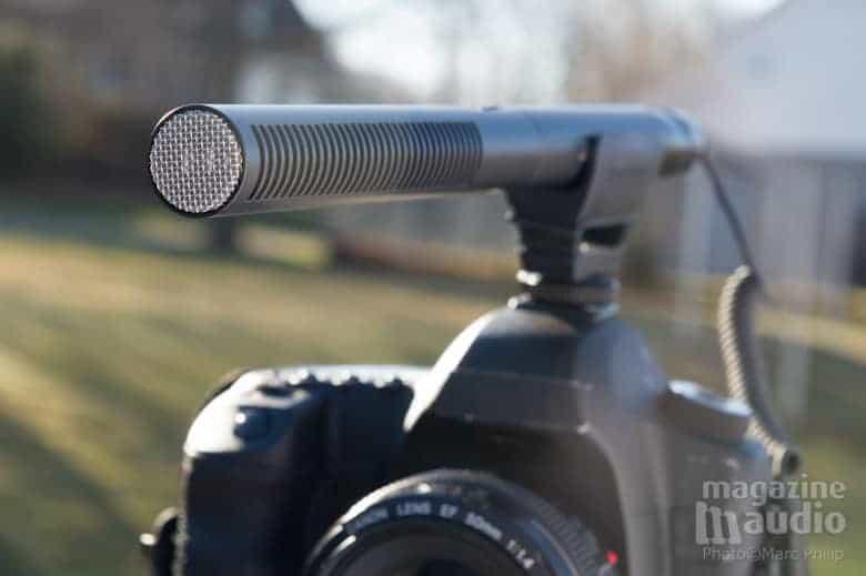 Micro Sennheiser MKE600 sur un DSLR Canon 5D mark II