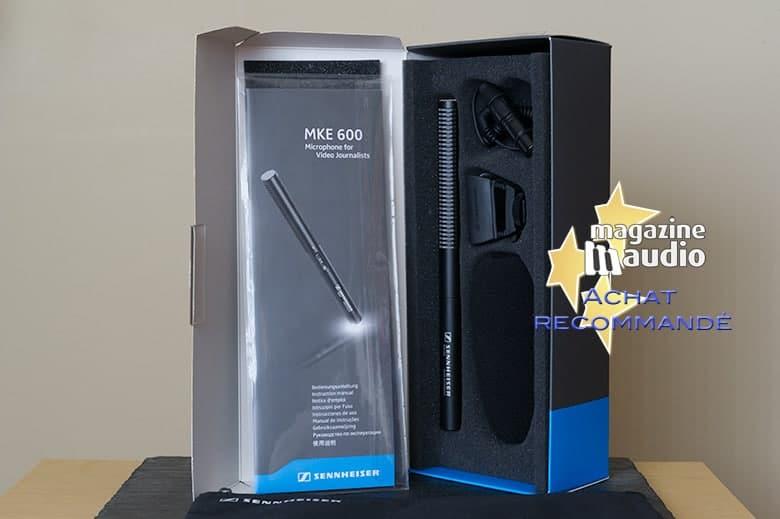 Micro shotgun pour DSLR Sennheiser MKE600