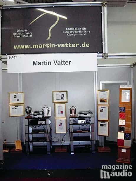 Martin Vatter présente son vinyle 180g chez STAX Germany au salon du High End en 2007 à Munich