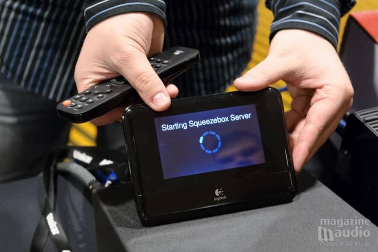 Ecoute du casque ADL via une Squeezbox qui stoke les données et dont on a accès via une télécommande.
