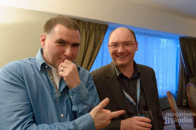 Michel Forbes (CeolBOX) à gauche et Emmanuel Dubreuil (Atoll France) à droite.