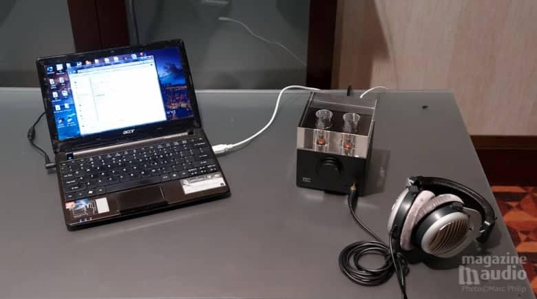 Woo Audio WA7_Fireflies et casque stéréo Bayerdynamic DT990