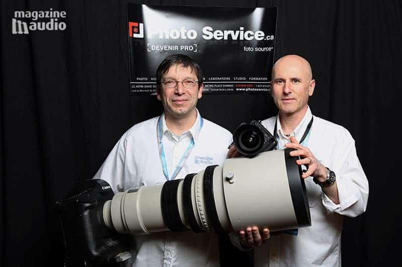 Alain Provencher et Marc Philip de passage chez Photo Service