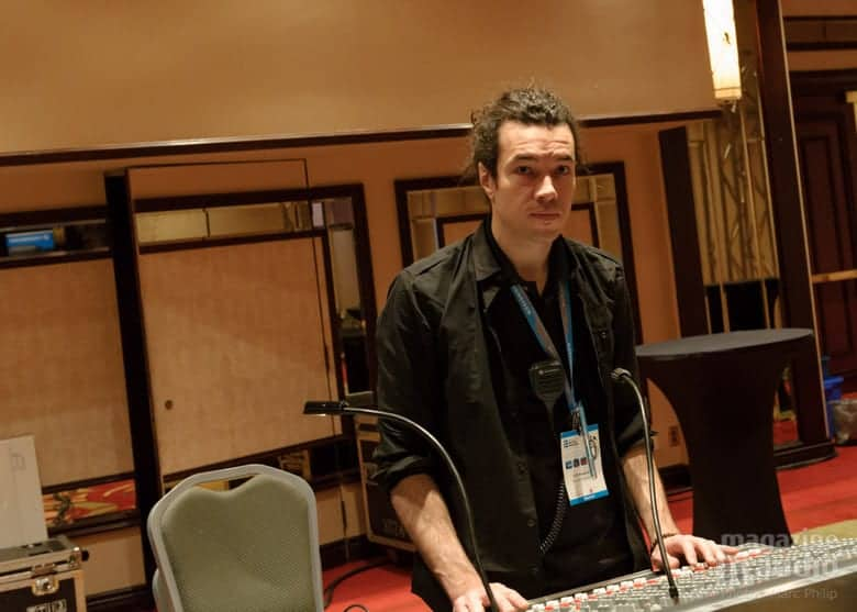 Stephan Ritch comme sound man au SSI 2013
