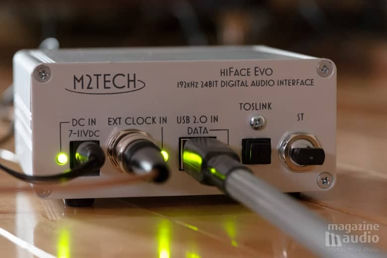 M2TECH HiFace EVO et son entrée pour la synchro de l'horloge externe