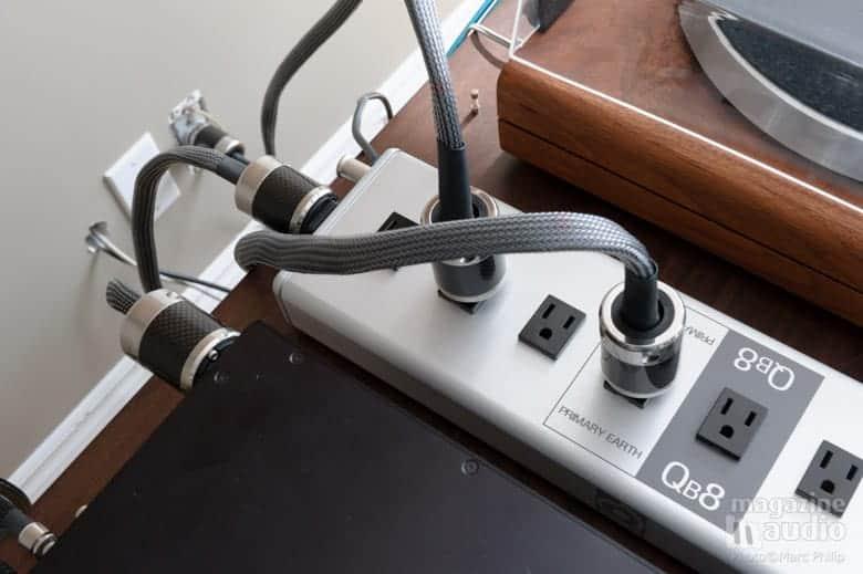 Quantum Qb8 et Qv2 en action avec nos câbles AC de référence