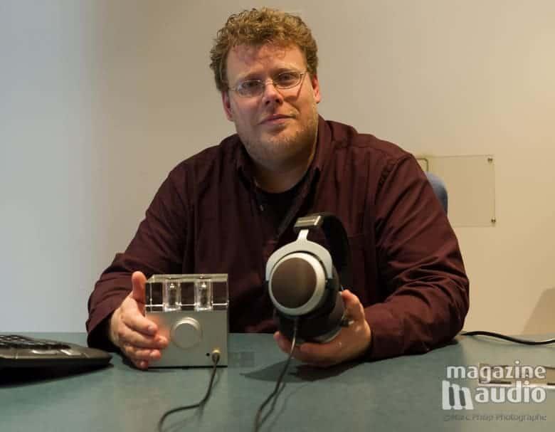 Patrick Sareault présente le WA7 de Woo Audio et l'écouteur T90 de Beyerdynamic