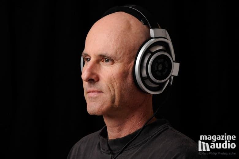 Je porte mes écouteurs de référence dans le haut de gamme des Sennheiser HD800