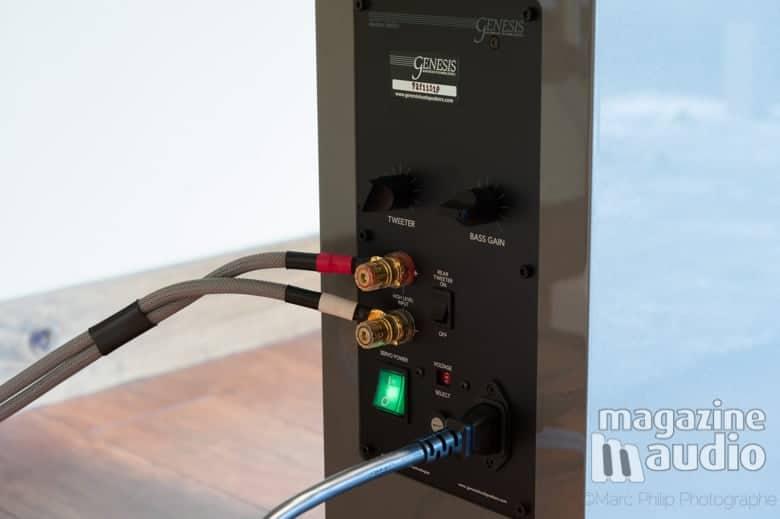 Câble de haut-parleur Blueberry Hill Audio série Live en arrière d'une Genesis G7.2f