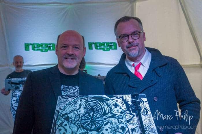 Michel Plante et Art Dudley de Stereophile magazine