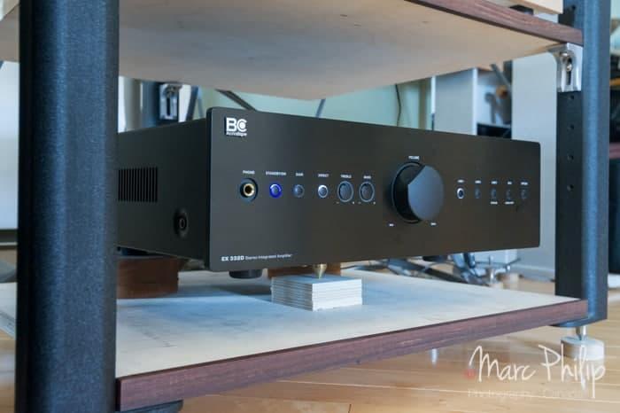Amplificateur intégré BC Acoustique 332D optimisé avec une pointe de couplage sous le transfo