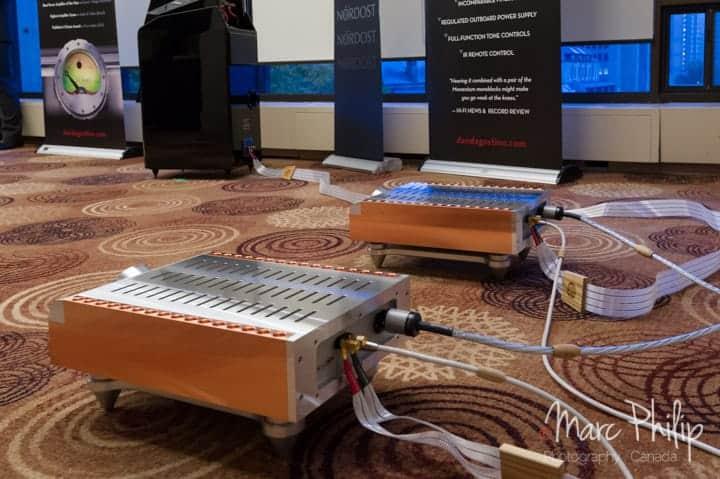Vue arrière du système D'Agostino, Audio Excellence au Taves 2014
