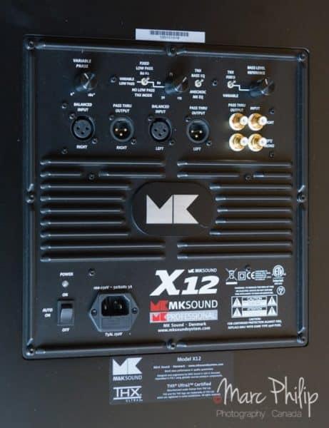 Vue du panneau arrière du X12 THX Ultra 2