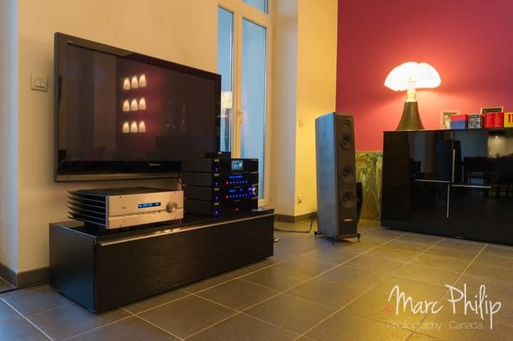 intégré Pass Labs et le système Helixir Audio, enceintes Sonus Faber Cremona