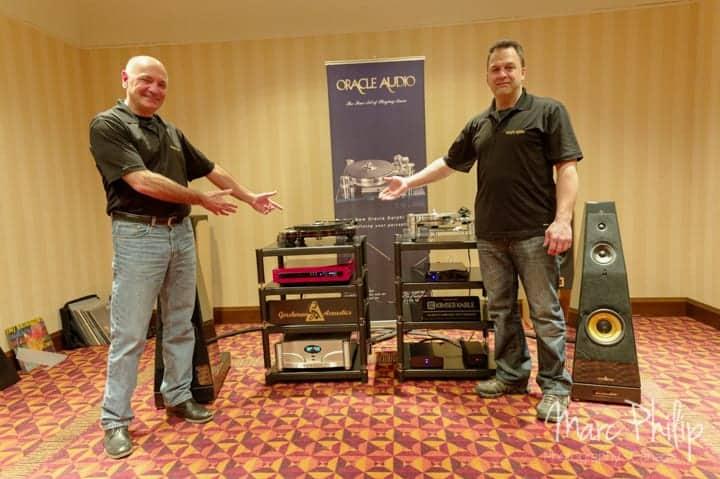 Jacques Riendeau et Stéphane Nadeau présentent la platine Origine par Oracle Audio