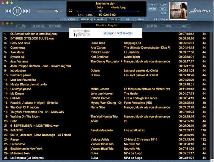 Playlist personnelle aussi appelée Emotion Playlist
