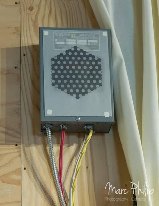 Tableau électrique dédié au système Hi-Fi